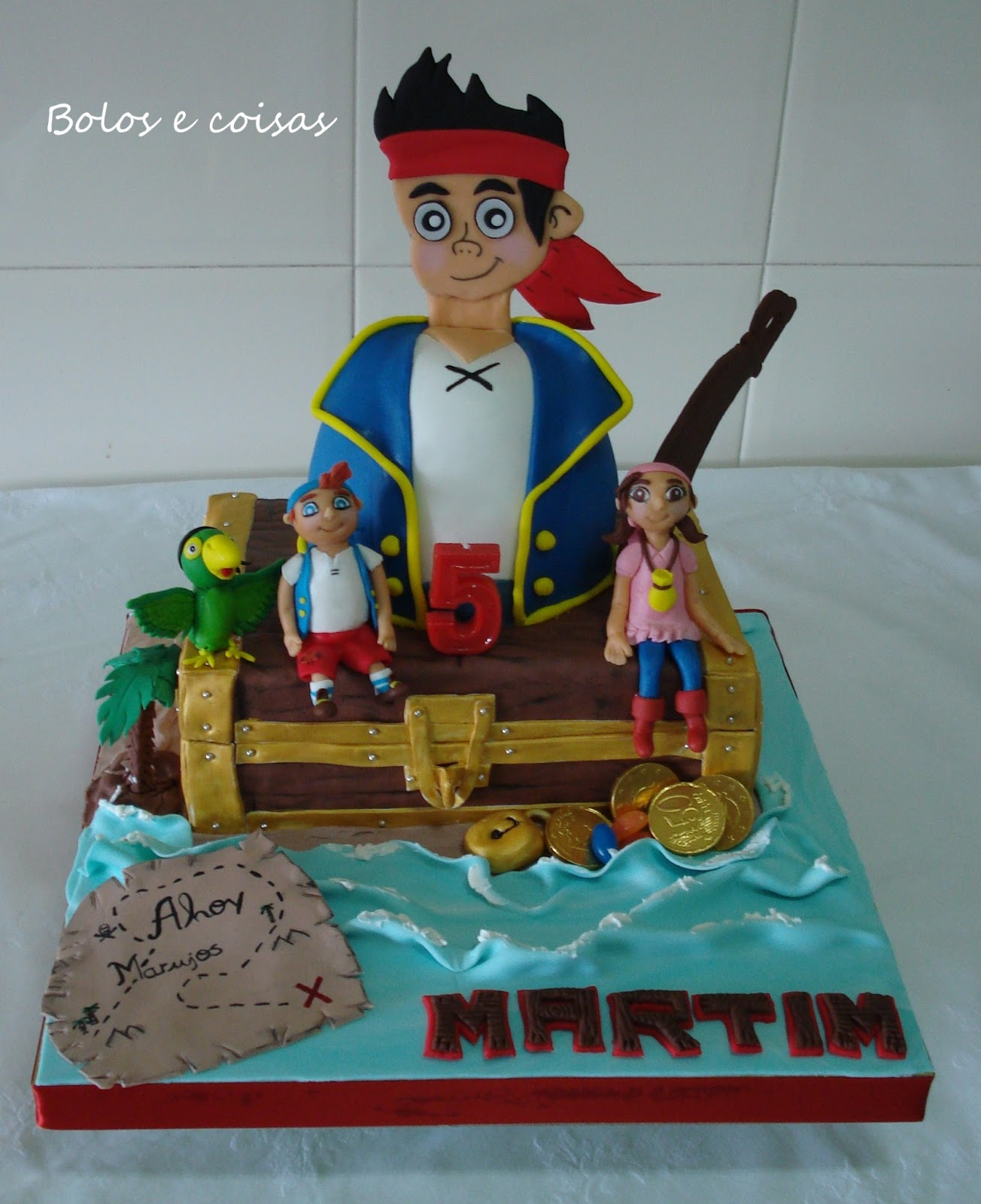 Cake Design Jake E Os Piratas : Bolos e coisas - Bolos decorados (Cake Design): Jake e os ...