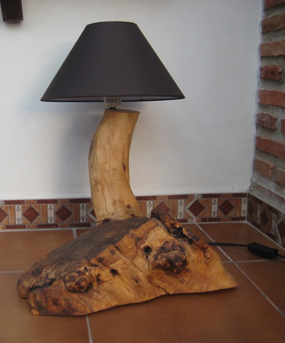 Mis cosas de madera l mpara de olivo - Lamparas para buhardillas ...