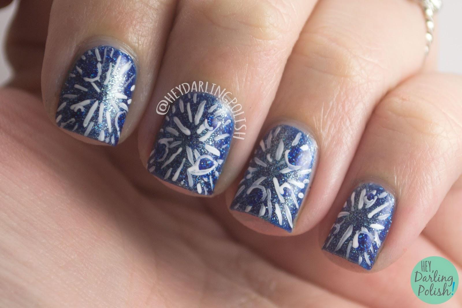 nails, nail art, nail polish, blue, hey darling polish, galaxy, constellations, poster,
