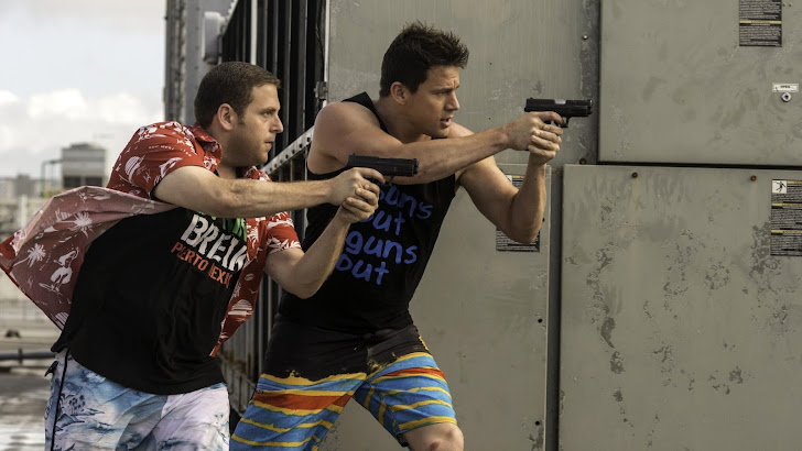 channing tatum as jenko and jonah hill as schmidt in 22 jump street