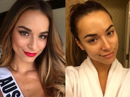 Wajah Peserta Miss Universe Dengan dan Tanpa Solekan