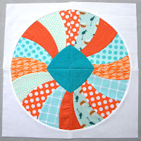 """Curve it up"" QAL ~ Block #9 ~ Dresden Plate"