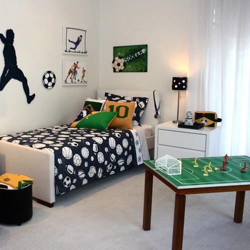 decoração quarto de futebol