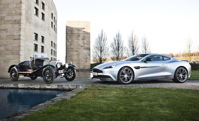 2012 Vanquish and 1921 Aston Martin A3