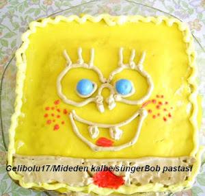 Sünger Bob Kare Şort Pastası