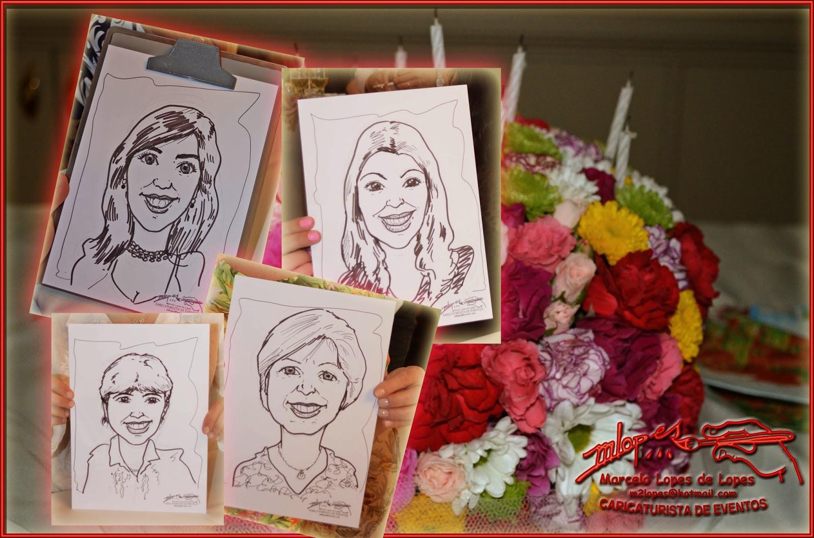 Clique aqui para ver as caricaturas realizadas ao vivo durante a festa