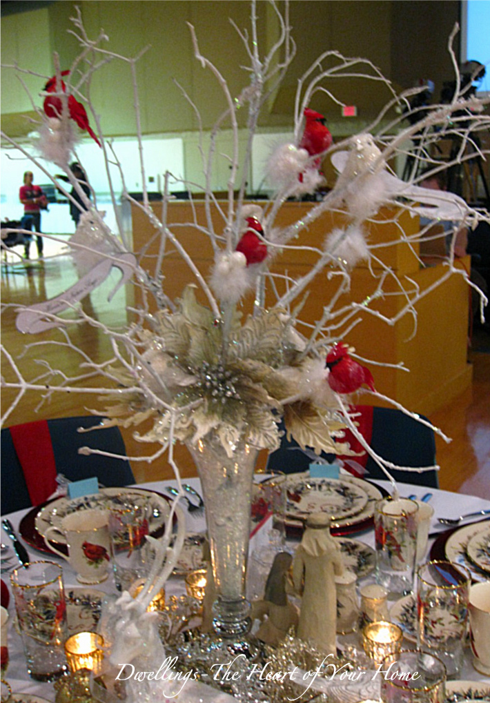 Christmas tea festival of tables dwellings the heart