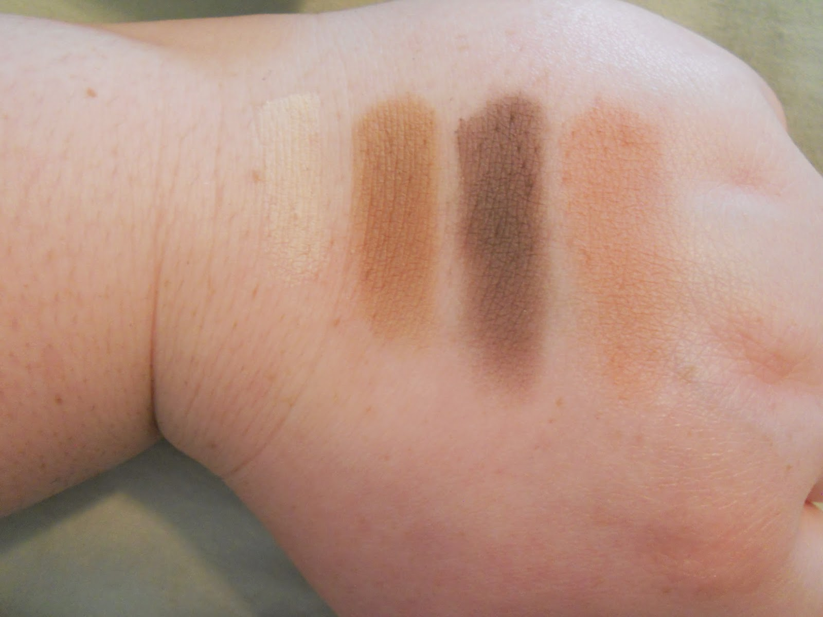 Lorac PRO Palette 2 Swatches - Buff, Lt. Brown, Cool Gray and Nectar