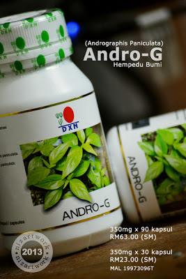 Andro-g (andrographis paniculata / hempedu bumi)