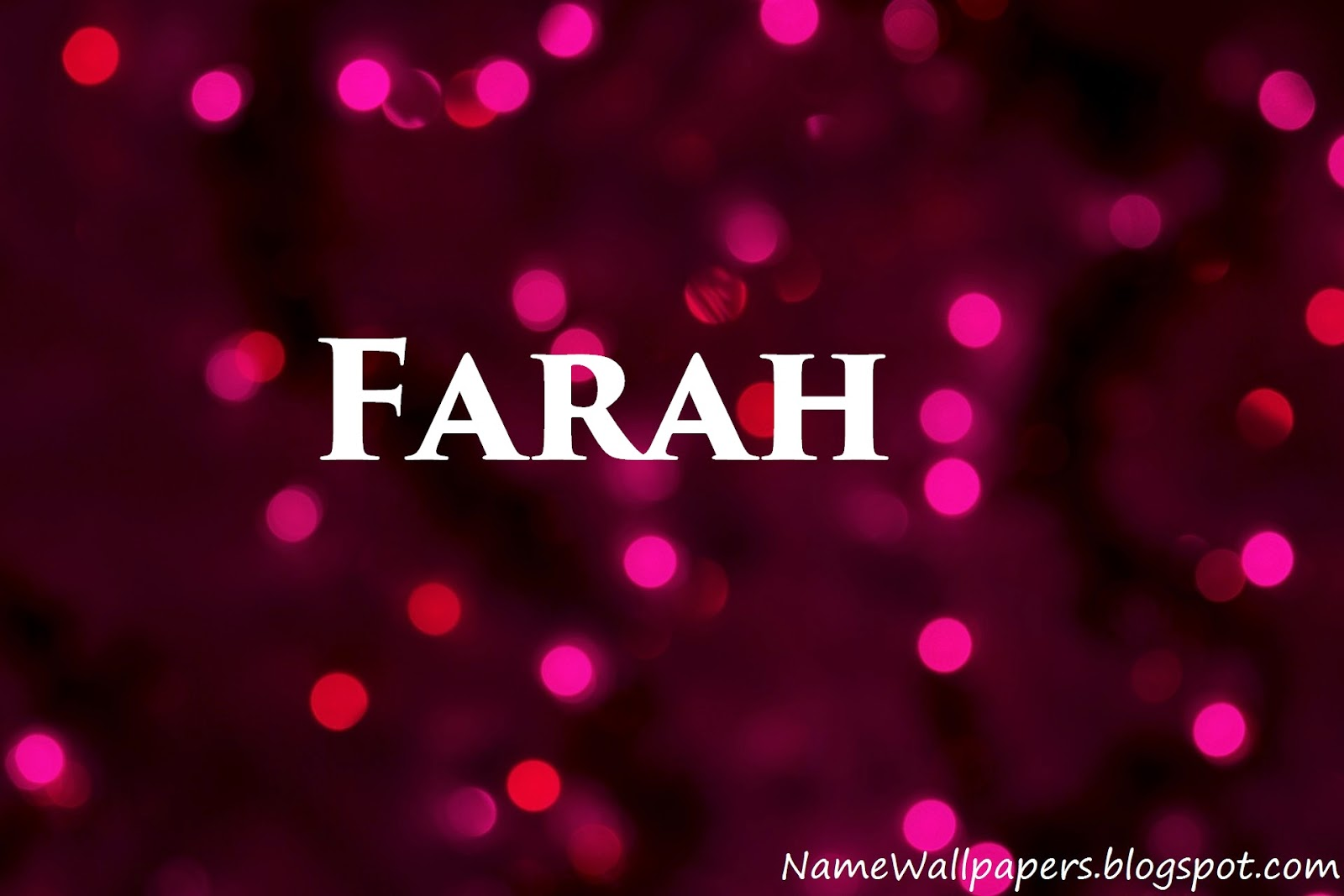 farah name wallpaper