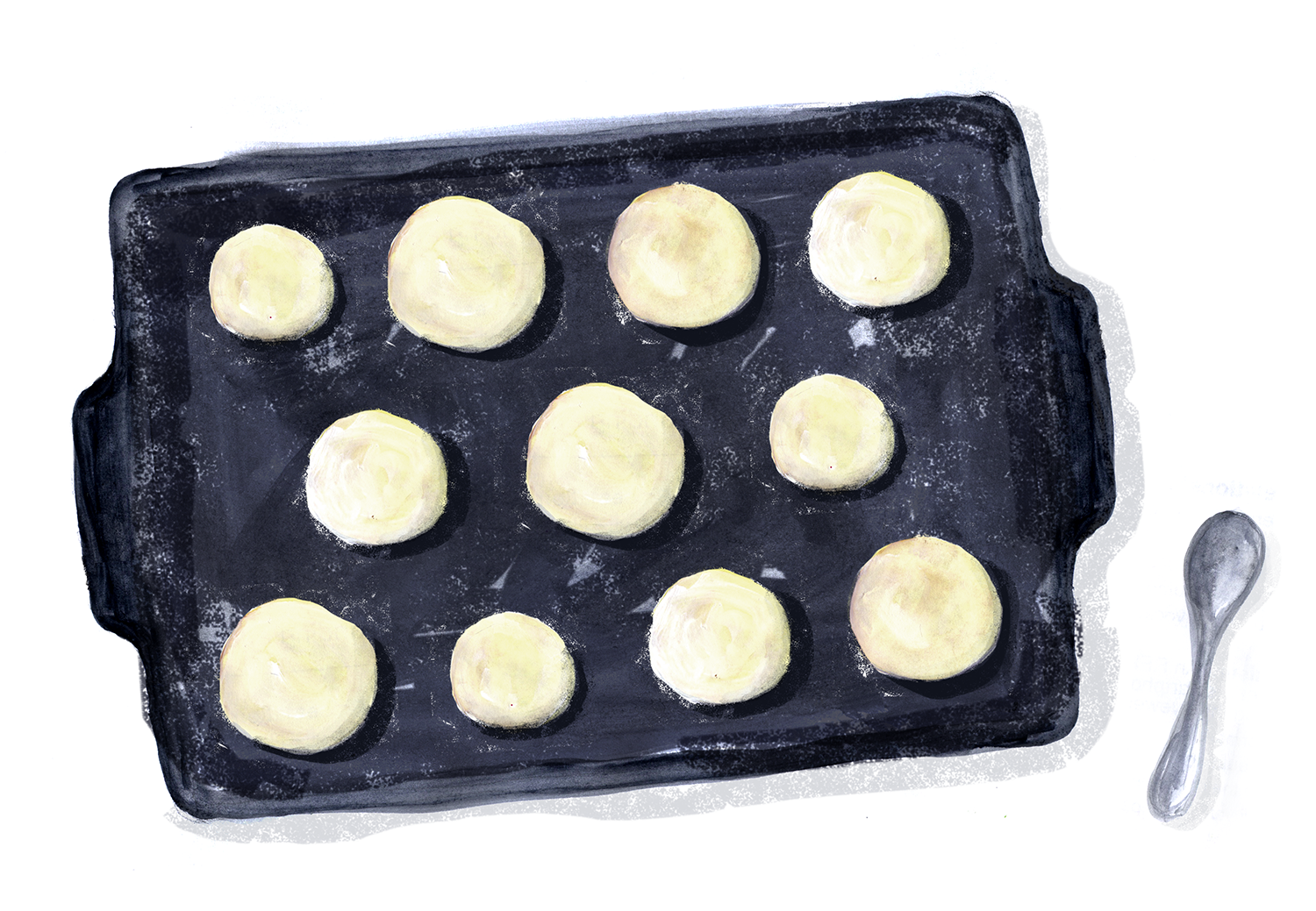 Anise Cookies, Anesplatzchen, Lauren Monaco Illustration
