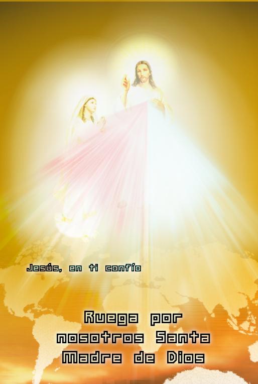 foto de jesus misericordiso con su madre