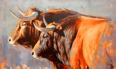 pintura-oleo-toros