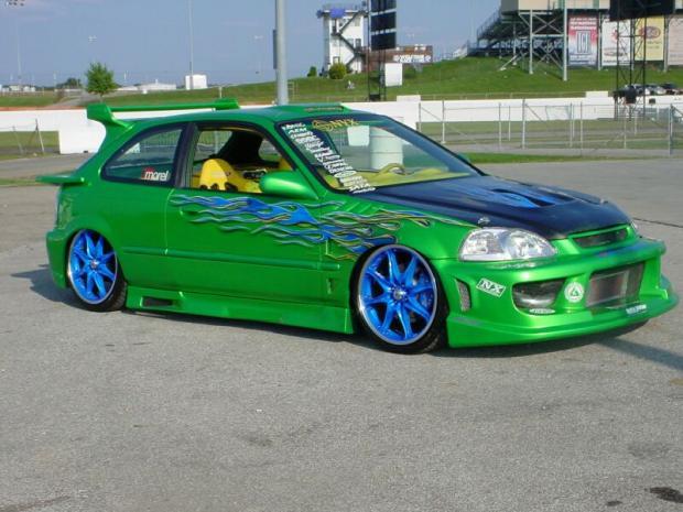 fast cars honda civic hatchback