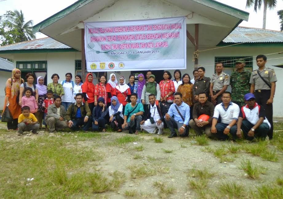 Kegiatan Pengobatan Massal di kelurahan Koya Timur
