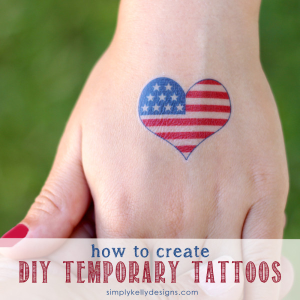 DIY Temporary Patriotic Tattoos | 20 Crafts for the 4th of July - Independence Day DIYs | directorjewels.com