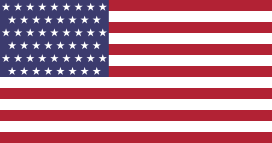 Flag of the United States with a new star added (total of 51 stars) for a hypothetical new state of Puerto Rico