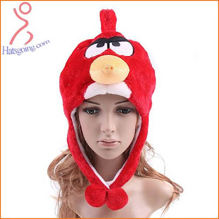 Red angry birds hats