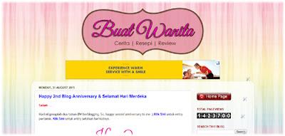 Design terkini blog buat wanita.