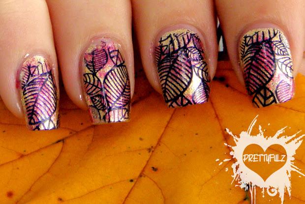 prettyfulz fall nail art design