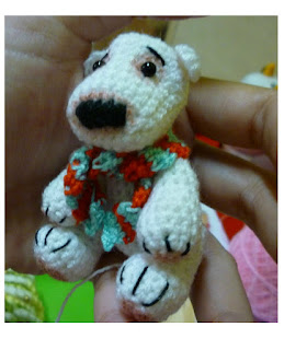 crochet polar bear christmas pattern cute gift