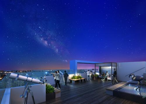 Đài vọng cảnh tầng 41 - dự án Seasons Avenue, Mỗ Lao, Hà Đông