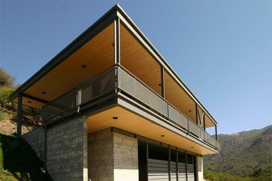 Casas minimalistas y modernas casa colgada de bruce bolander - Casas estructura metalica ...