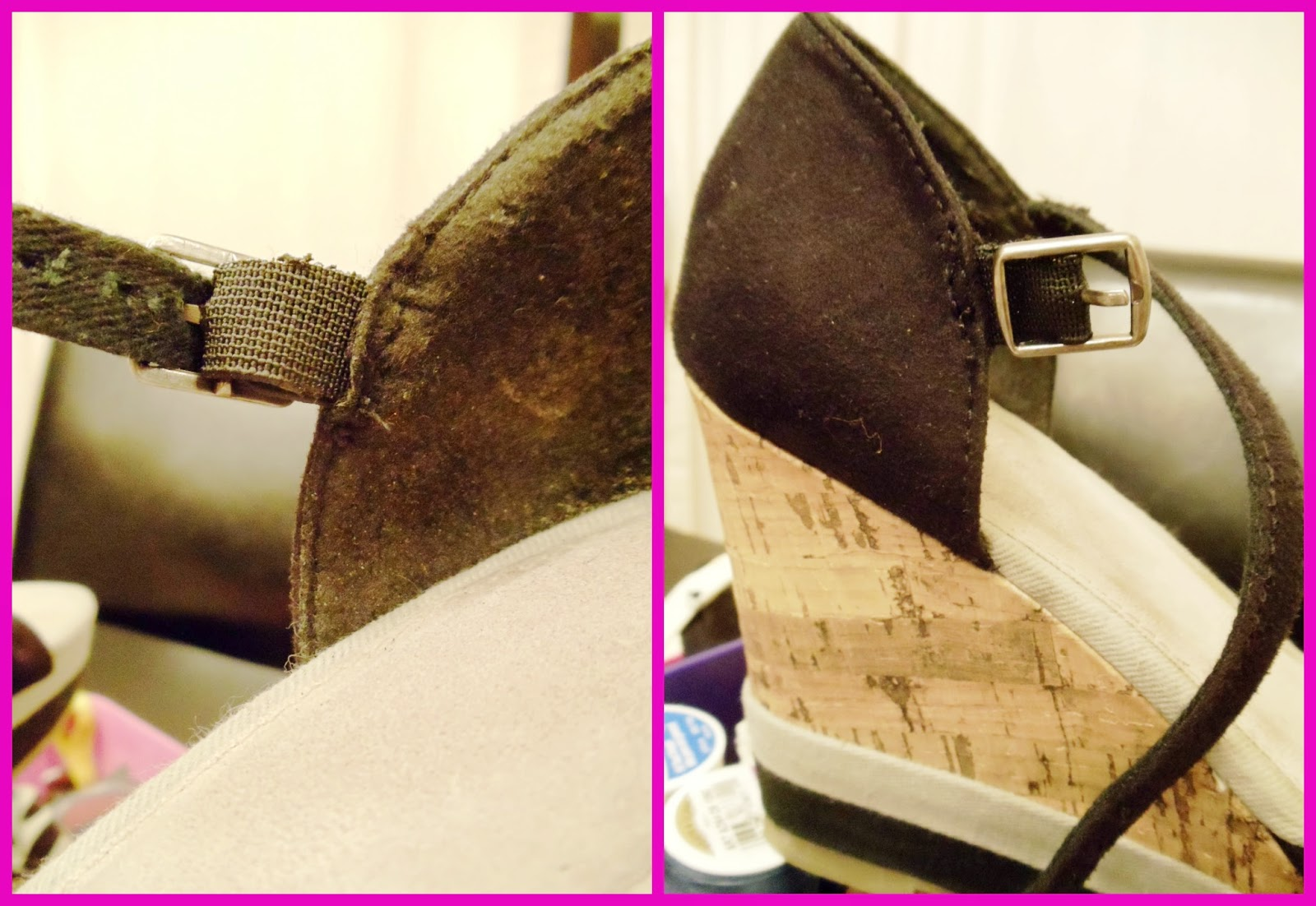 shoe elastic fix, diy shoe repair