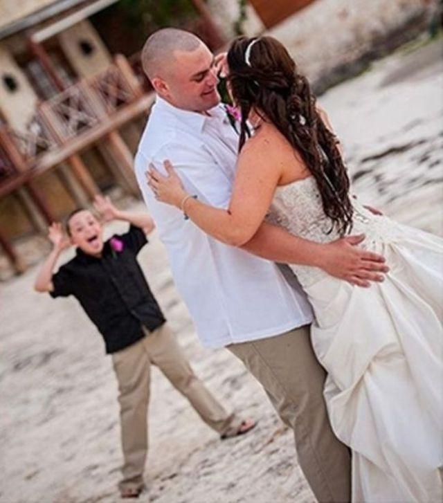 Fotos graciosas de bodas gente metida arruinadas