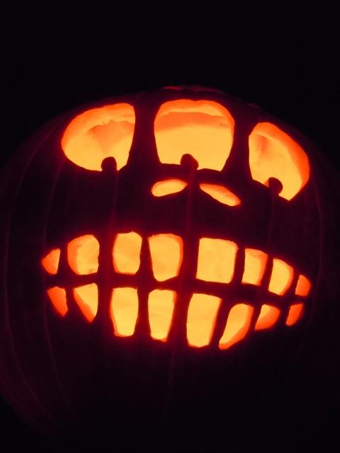 Three eyed Halloween pumpkin