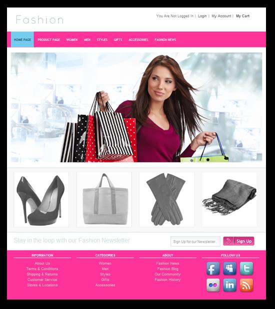 Fashion boutique website templates 57