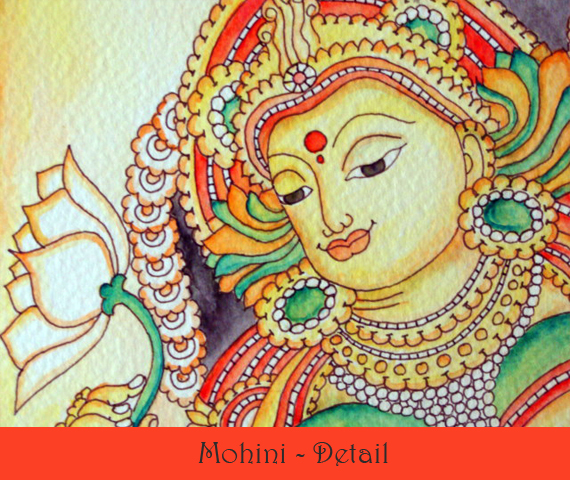 Artists of india mohini by deepa gopal sunil for Buy kerala mural paintings online