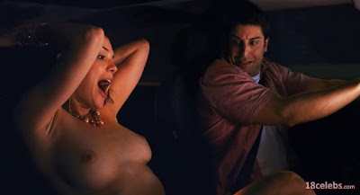 jason biggs staring at ali cobrin's breasts tits boobs