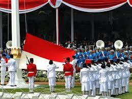 upacara bendera peringatan hut ri