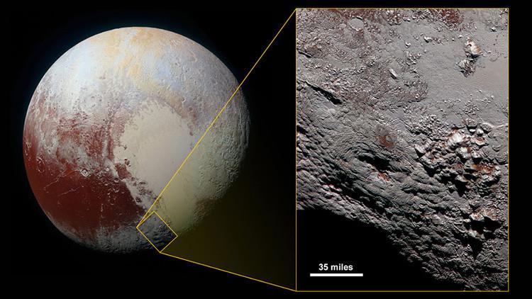 Hallan en Plutón un volcán gigantesco de agua y hielo