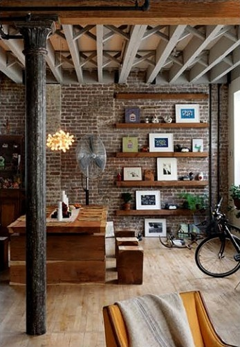 exposed brick decor the cottage market
