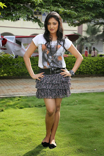 Haripriya in Spicy Micro Mini Skirt and Chest Print T Shirt lovely Pictureshoot