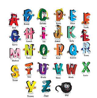 characters in the alphabet