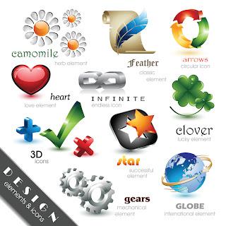 光沢ある立体的なアイコン Beautiful and Free 3D Vector Icons1