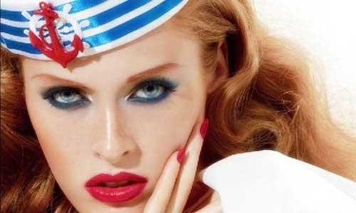 maquillaje pin up para disfrazarse de marinera sexy