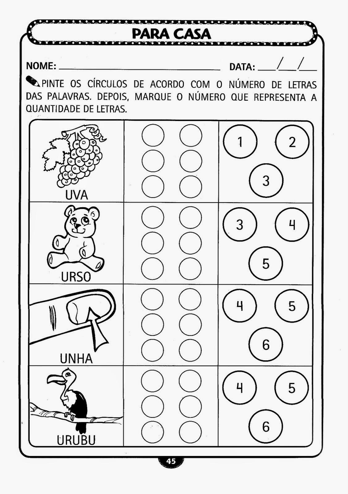 Well-known ESPAÇO EDUCAR: Muitas atividades lindas para Educação Infantil  ZV32
