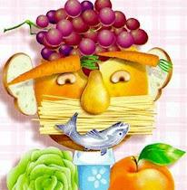 Cantinho para aprender sobre alimentação saudável. Lá ,a gula é pecado .