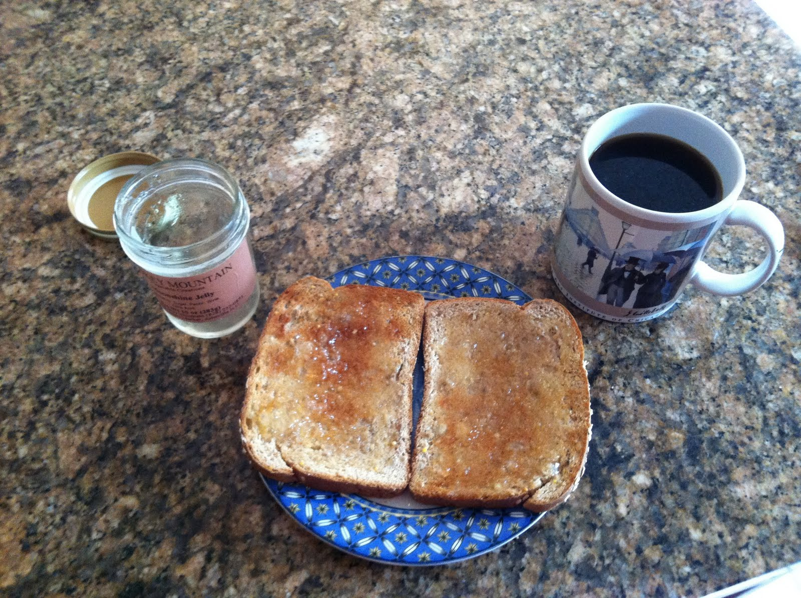 Moonshine Jelly, Toast, and Coffee