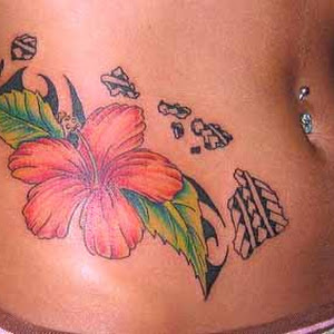 capricorn flower tattoo designs