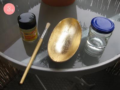 DIY Schmuckschale vergoldet