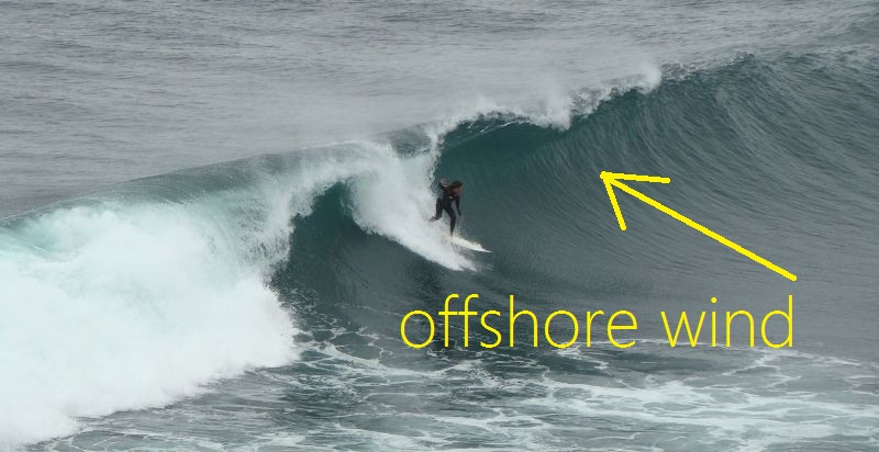 Surfer offshore