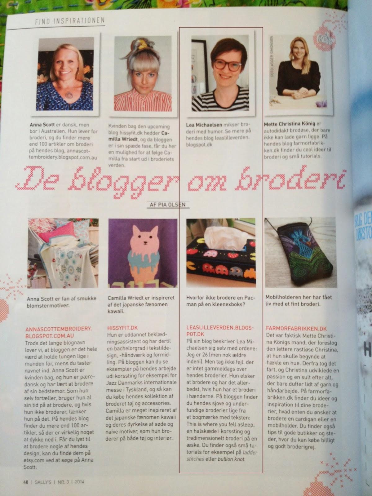 Magasinet Sally's med Lea's Lille Verden blandt 4 favoritblogs