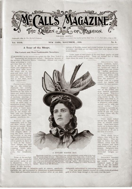 McCall's Magazine November 1899