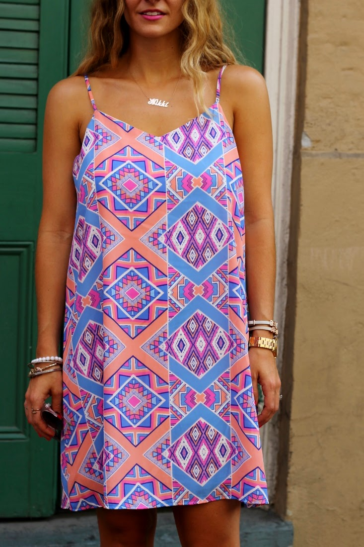 The Impeccable Pig Geo Print Collide Dress