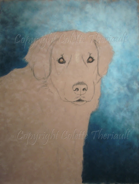 Golden Retriever Painting in progress